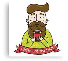 Coffee tea man Canvas Print