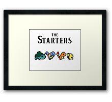 Pokemon starters - Beatles parody  Framed Print