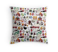 Chibi Harry Potter Doodle Throw Pillow