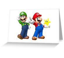 Mario and Luigi Greeting Card