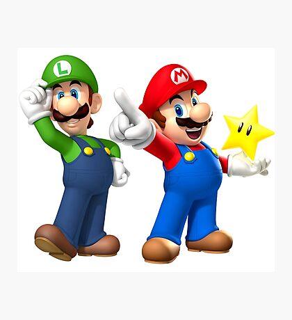 Mario and Luigi Photographic Print