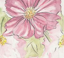 Cosmos Pink Flowers by Troglodyte