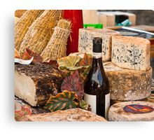 Wine & Cheese Canvas Print