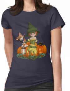 The Witch, The Cat, The Spider  Womens Fitted T-Shirt
