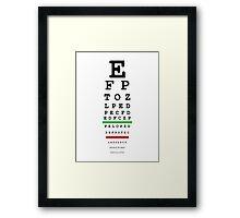 eye test Framed Print