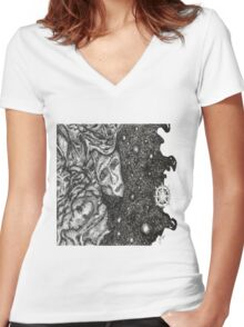 The Masquerade Women's Fitted V-Neck T-Shirt