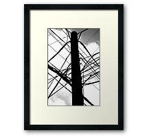 Wire Crazy Framed Print
