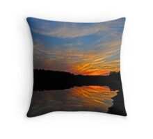 Fiery Night Throw Pillow