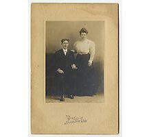 William and Matilda Laughery-King, Decatur, IL.  Photographic Print