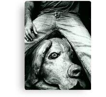 bw jean Canvas Print