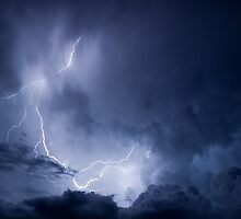 Summer Storm, Wilpena Pound, South Australia by Neville Jones