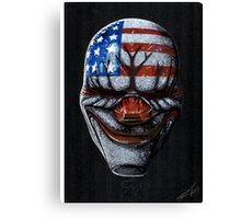 Payday 2 Dallas mask Canvas Print