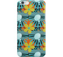 Retro Sunburst Flower Pattern iPhone Case/Skin