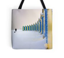 Beach Huts In The Snow Tote Bag