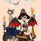 The Witch, The Cat and The Ghosts  by LoneAngel