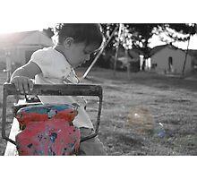 Child at play coloursplash Photographic Print