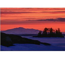 Sunset in winter Photographic Print