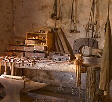 Blacksmith's shop, Wilpena station, South Australia by Neville Jones