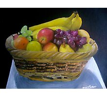 Basket of Fruit Photographic Print