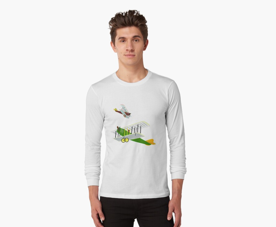 Biplanes in Aerial Games T-shirt, etc. design by Dennis Melling