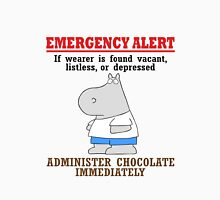 Emergency alert chocolate by boynton geek funny nerd Unisex T-Shirt
