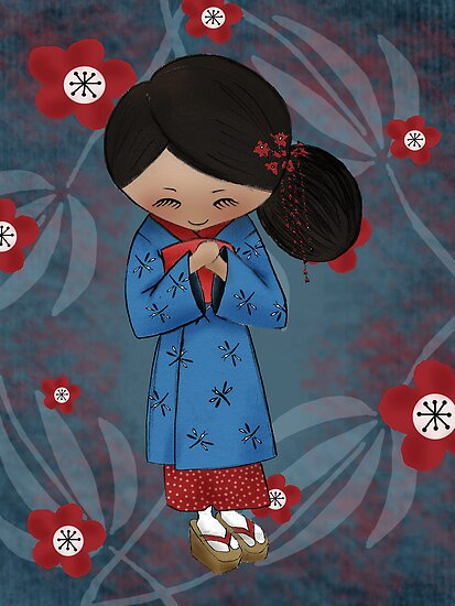 """Maiko"" Apprentice Geisha by Kristy Spring-Brown"