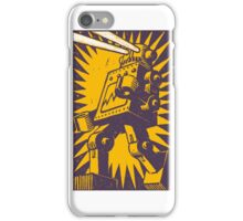 Purple Robot iPhone Case/Skin