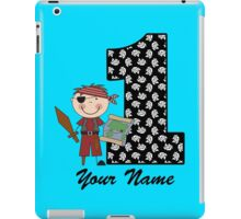 First birthday boy pirate geek funny nerd iPad Case/Skin