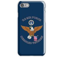 US Air Force Disabled Veteran Eagle Shield iPhone Case/Skin