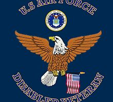 US Air Force Disabled Veteran Eagle Shield by henrytheartist