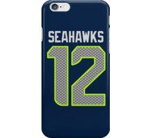 Seahawks - 12th Man - Blue iPhone Case/Skin