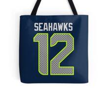 Seahawks - 12th Man - Blue Tote Bag