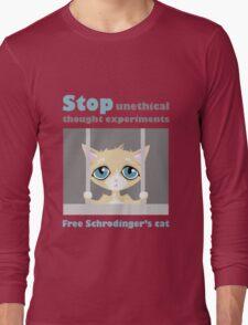 Free schrodingers cat geek funny nerd Long Sleeve T-Shirt
