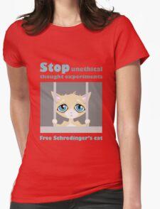Free schrodingers cat geek funny nerd Womens Fitted T-Shirt