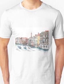 Venice Canals Watercolour Unisex T-Shirt