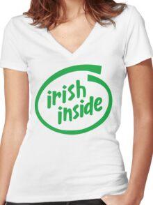 Irish Inside Women's Fitted V-Neck T-Shirt