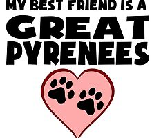My Best Friend Is A Great Pyrenees by GiftIdea