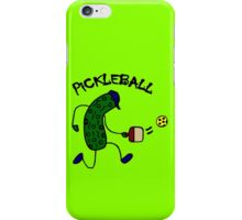 Funny pickle playing pickleball geek funny nerd iPhone Case/Skin
