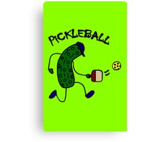 Funny pickle playing pickleball geek funny nerd Canvas Print