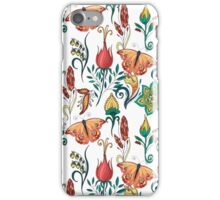 Floral pattern with butterflies iPhone Case/Skin