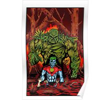 Swamp Thing vs. Captain Planet - by Christian Martinez Poster