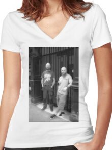 Tattoo Art Women's Fitted V-Neck T-Shirt