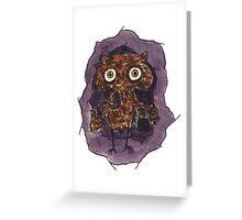 Owlin' Greeting Card