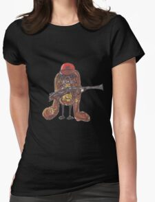 The rabbitish hunter Womens Fitted T-Shirt