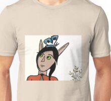 Elf with butterfly Unisex T-Shirt