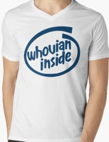 Whovian Inside Mens V-Neck T-Shirt