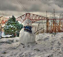 Snowman - Christmas Card by Tom Gomez