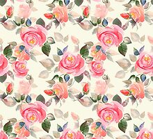 Pattern with roses by Gribanessa