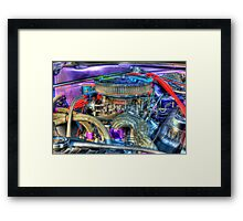 Purple Under the Hood Framed Print