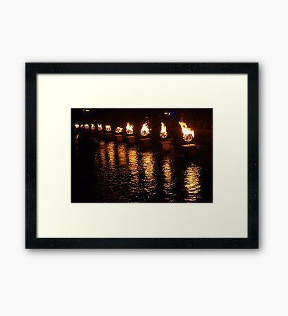 Waterfire Framed Print